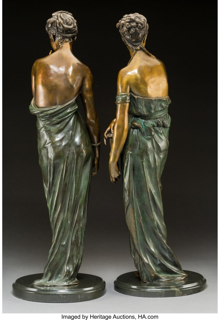61751: Two Cold-Painted Bronze Figures After Claire Col - 2