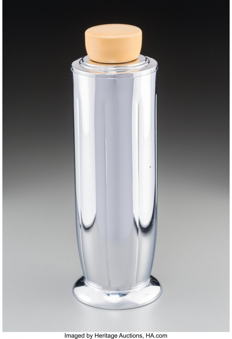 61988: A Manning Bowman Chromed Cocktail Shaker Marks: