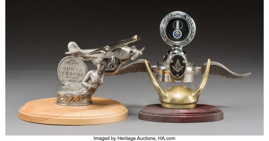 61951: Three American Pewter, Chromed, and Gilt Automob