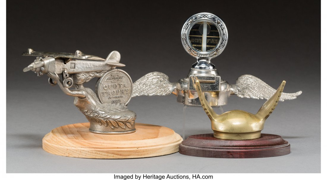 61951: Three American Pewter, Chromed, and Gilt Automob - 2