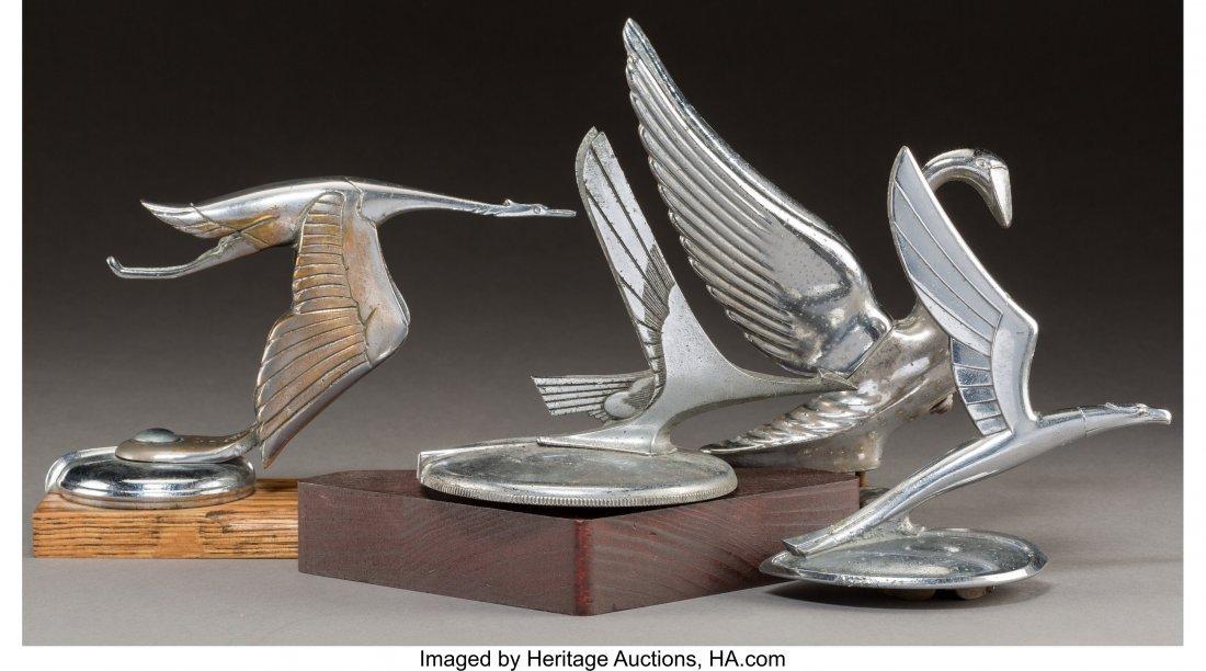61957: Four American and Spanish Chromed Bird Automobil - 2
