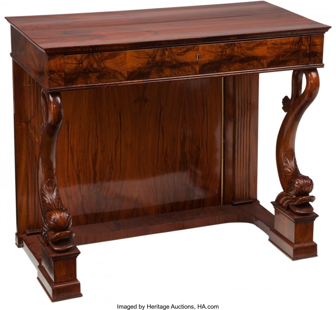 62083: A Neoclassical Biedermeier Mahogany Console with