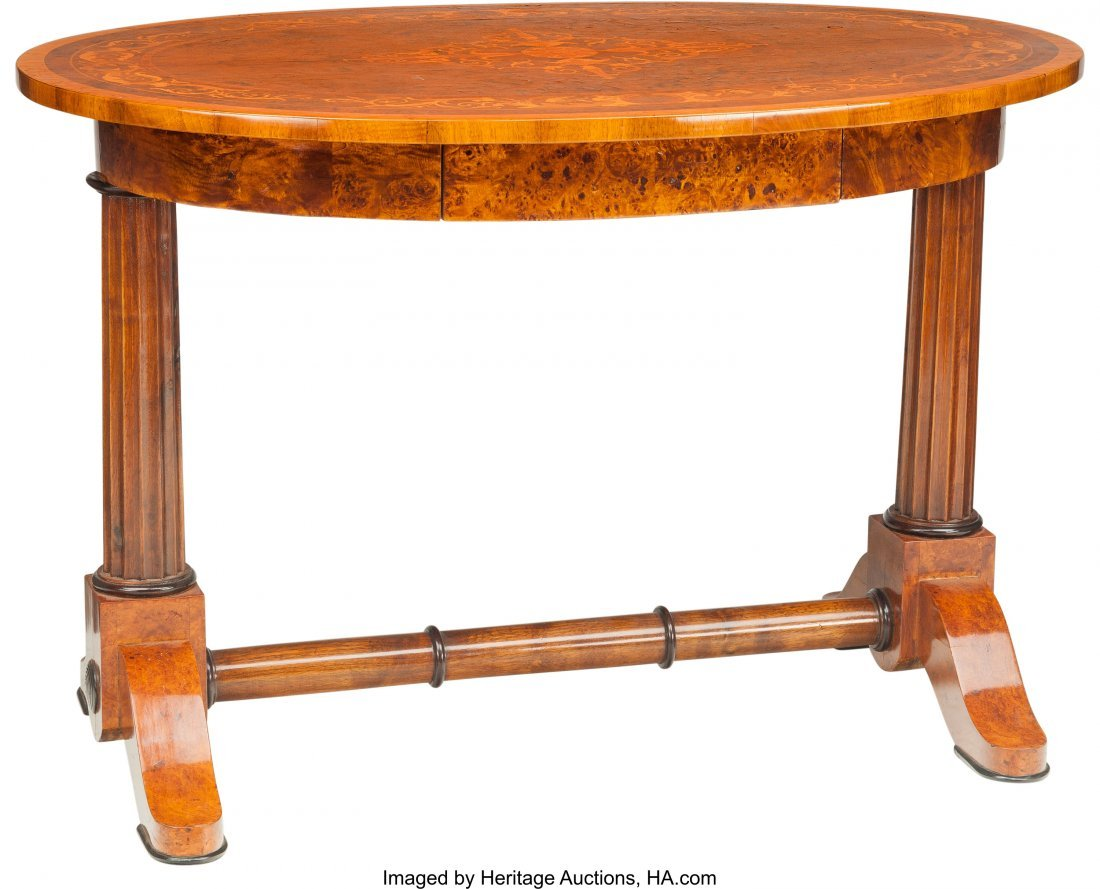 62085: A Hungarian Neoclassical Biedermeier Oval Table