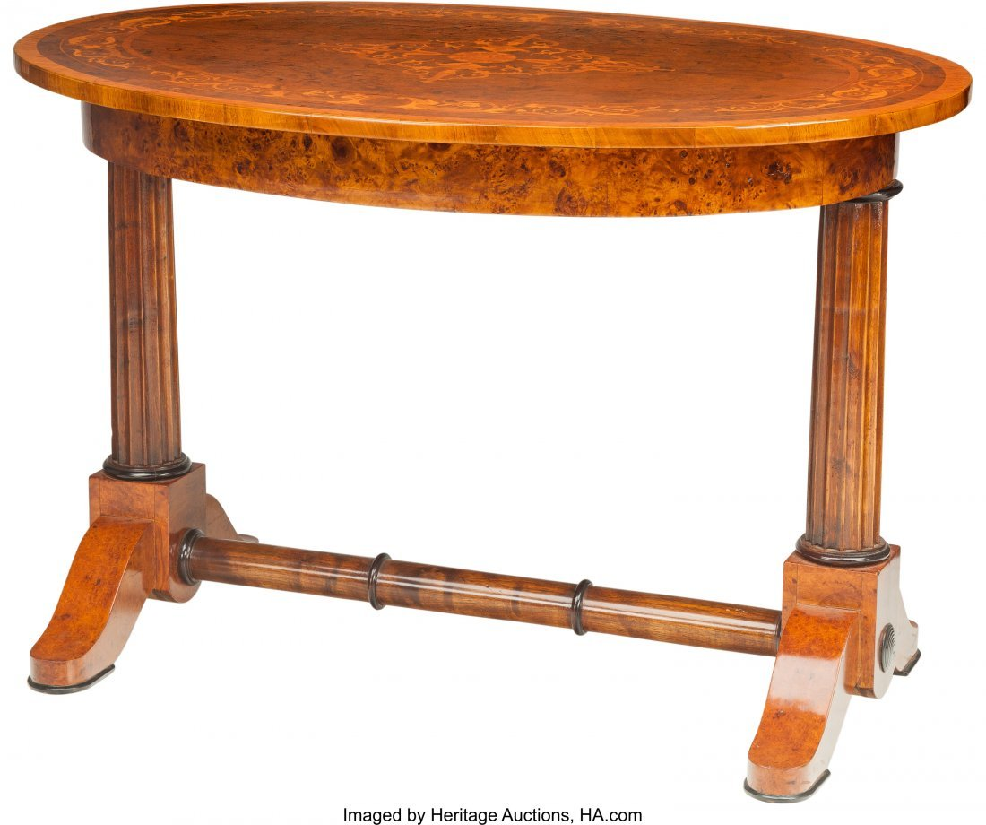 62085: A Hungarian Neoclassical Biedermeier Oval Table  - 2