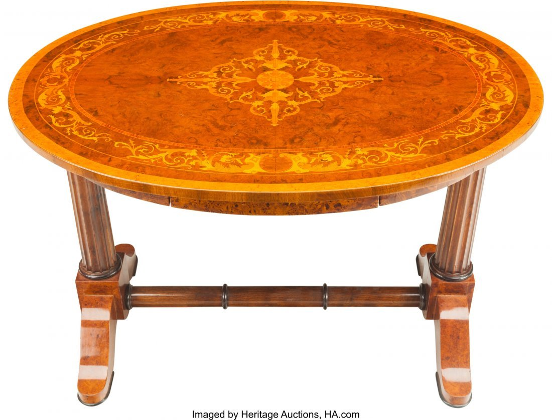 62085: A Hungarian Neoclassical Biedermeier Oval Table  - 3
