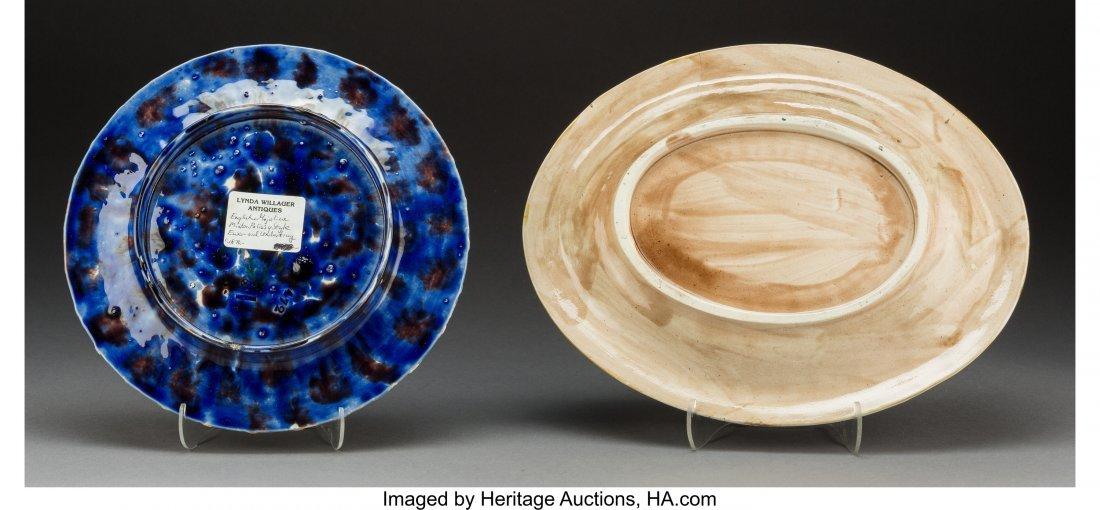 61765: Two Minton and English Majolica Plates, Stoke-on - 2