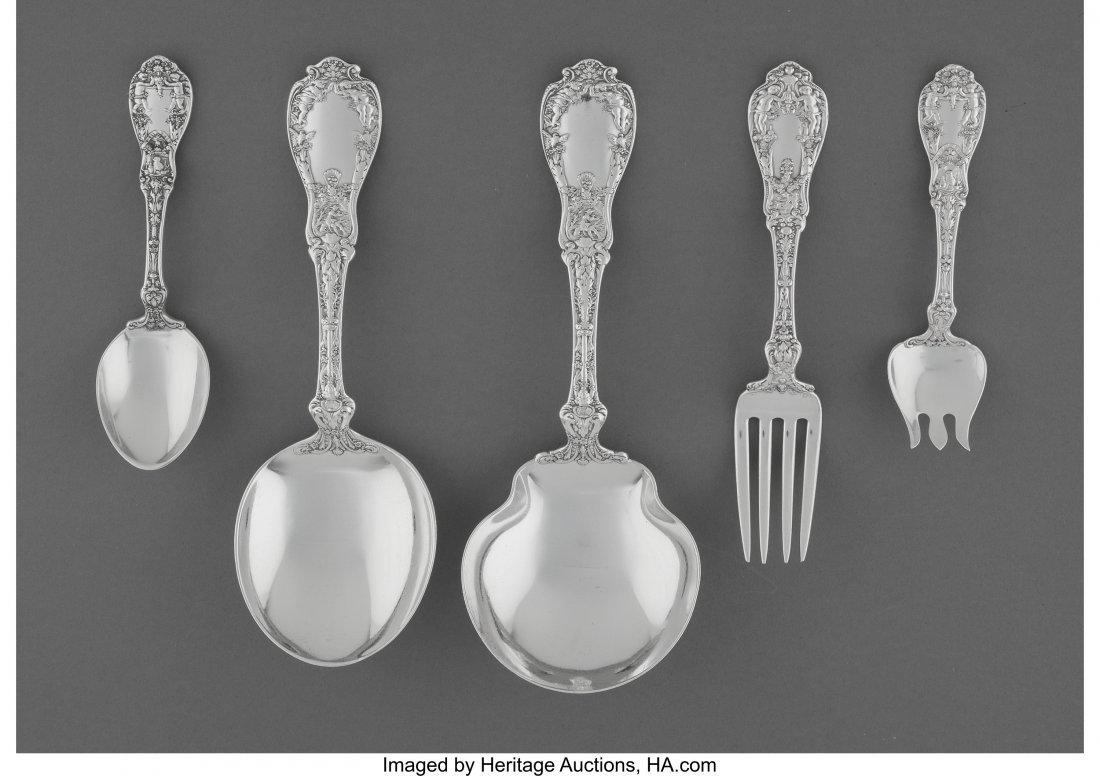 61873: A Twenty-Eight Piece Gorham Paris Pattern Silver