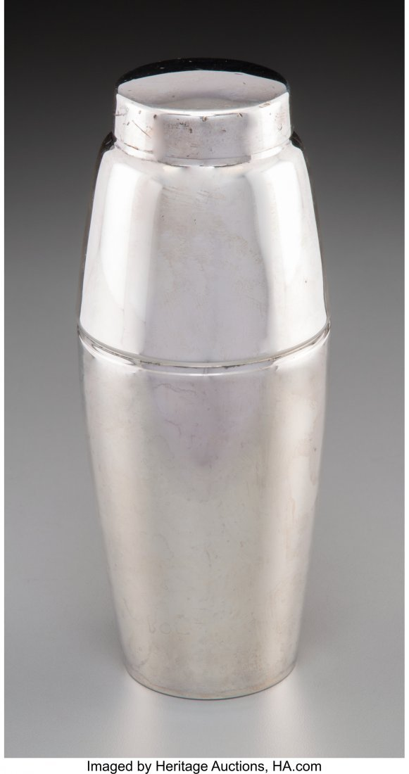 61975: A Towle Silver-Plated Cocktail Shaker, Newburypo