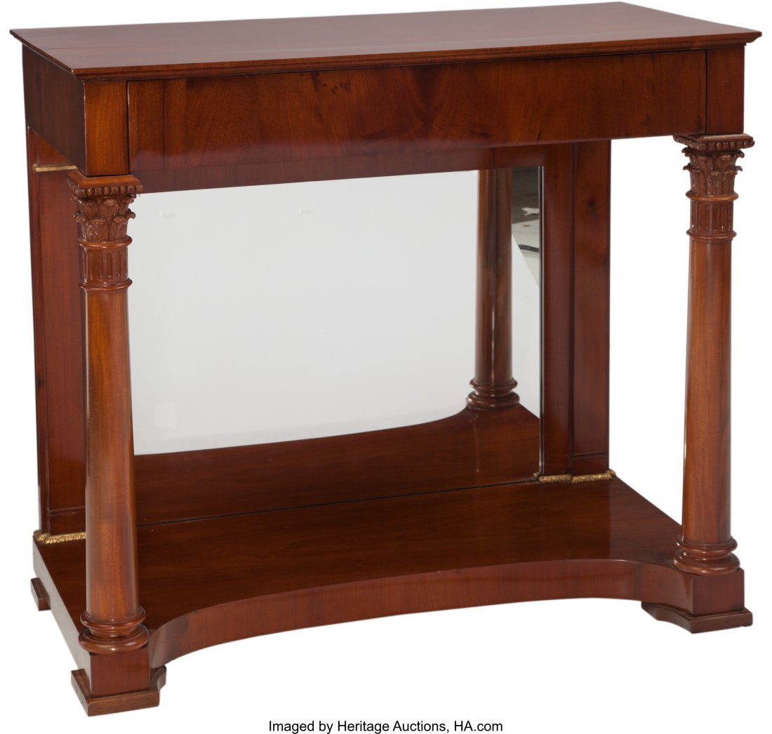 62093: A Neoclassical Biedermeier Pier Table, 19th cent