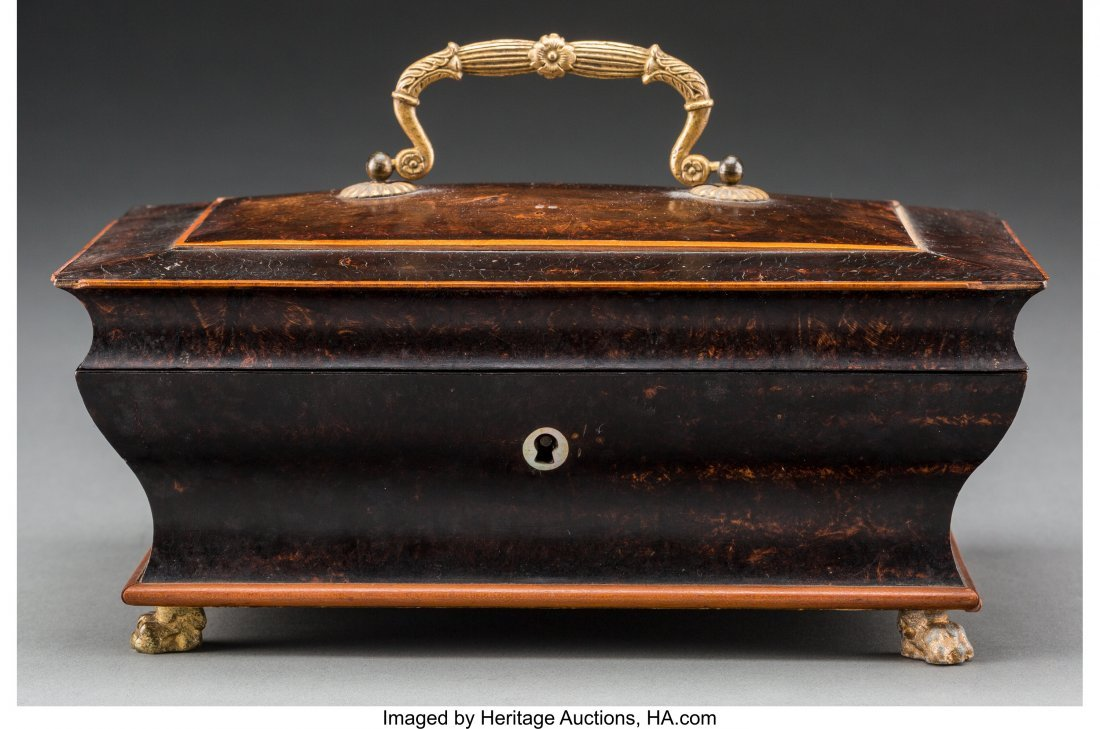 61772: An English Regency-Style Burled Wood and Mother- - 4