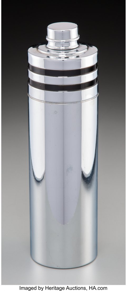 61980: An Evercraft Art Deco Chromed Cocktail Shaker, c