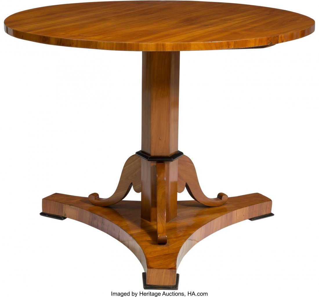 62098: A South German Biedermeier Cherry Center Table,