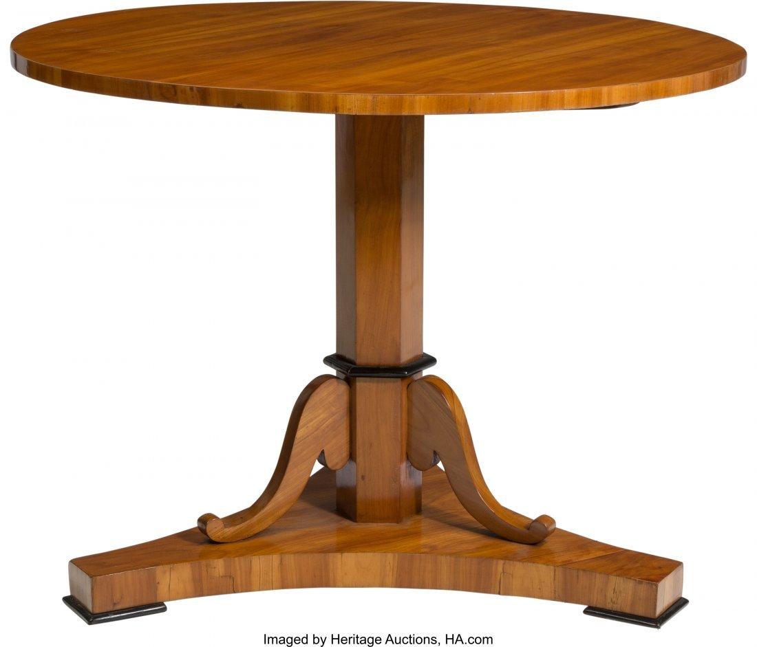 62098: A South German Biedermeier Cherry Center Table,  - 2