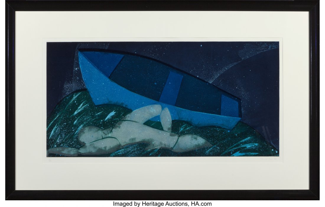 62169: David True (b. 1942) Channel, 1987 Etching with  - 2