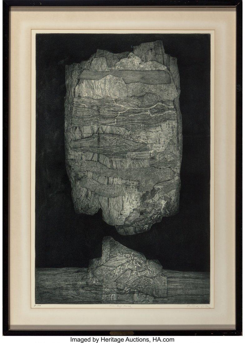 62173: Gabor F. Peterdi (1915-2001) The Big Rock, 1961  - 2