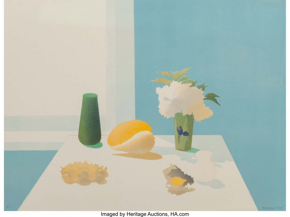62174: Elizabeth Osborne (b. 1936) Untitled, 1977 Litho