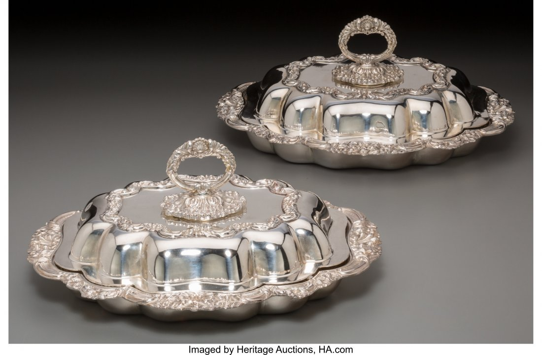 61789: A Pair of John Pound & Co. Silver-Plated Covered - 2