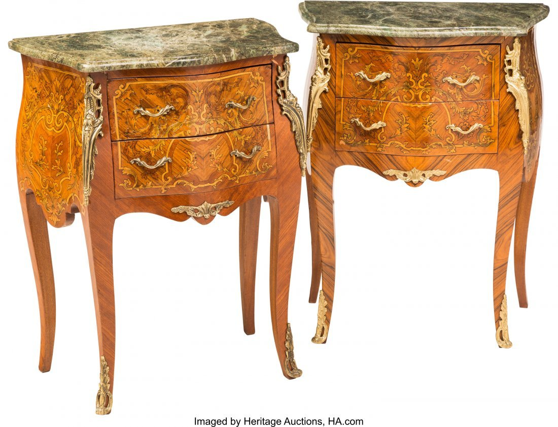 62053: A Pair of Louis XV-Style Diminutive Bombé-Form