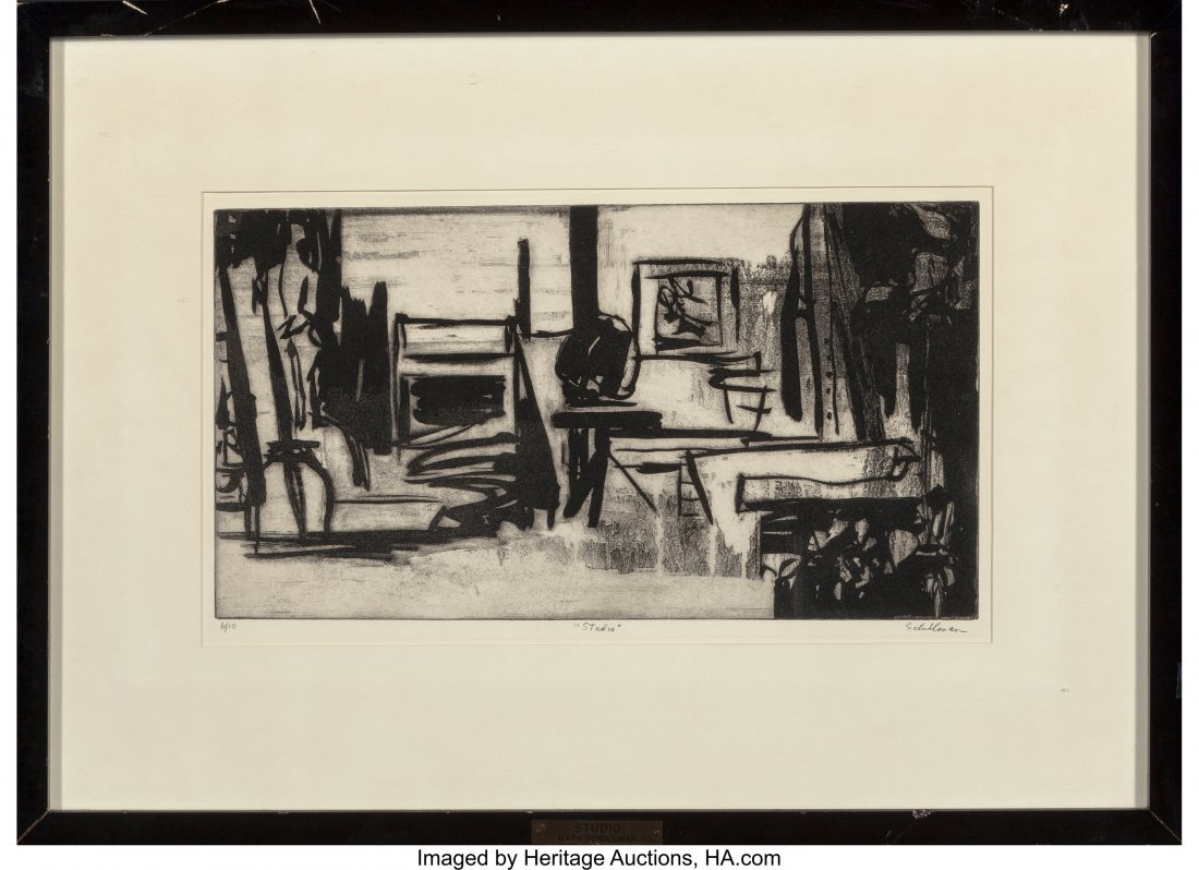 62188: Mary Schullman (20th Century) Studio, n.d. Litho - 2
