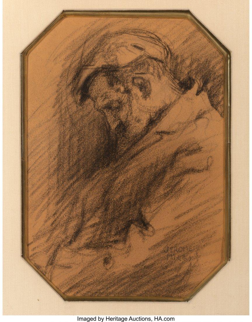 62263: Jerome Myers (American, 1867-1940) Sleeping Man