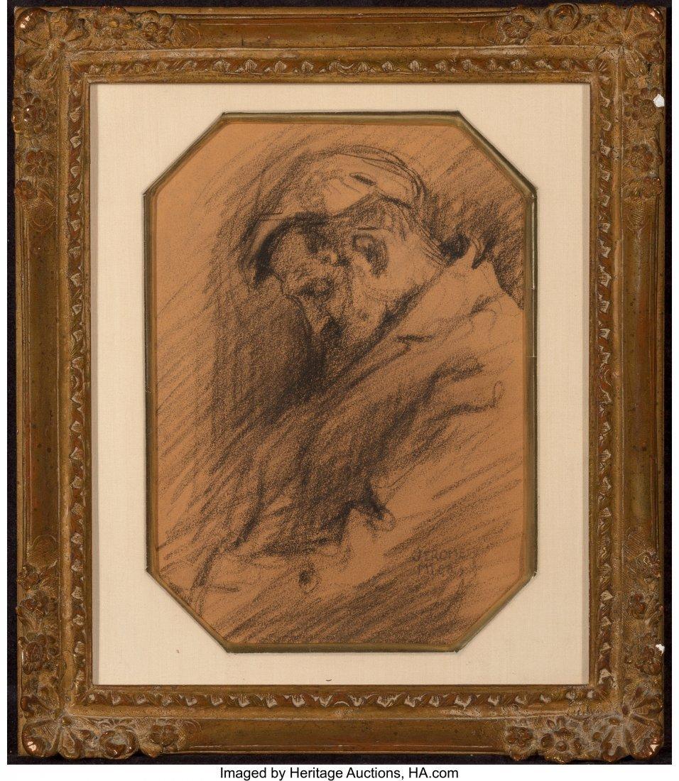 62263: Jerome Myers (American, 1867-1940) Sleeping Man  - 2