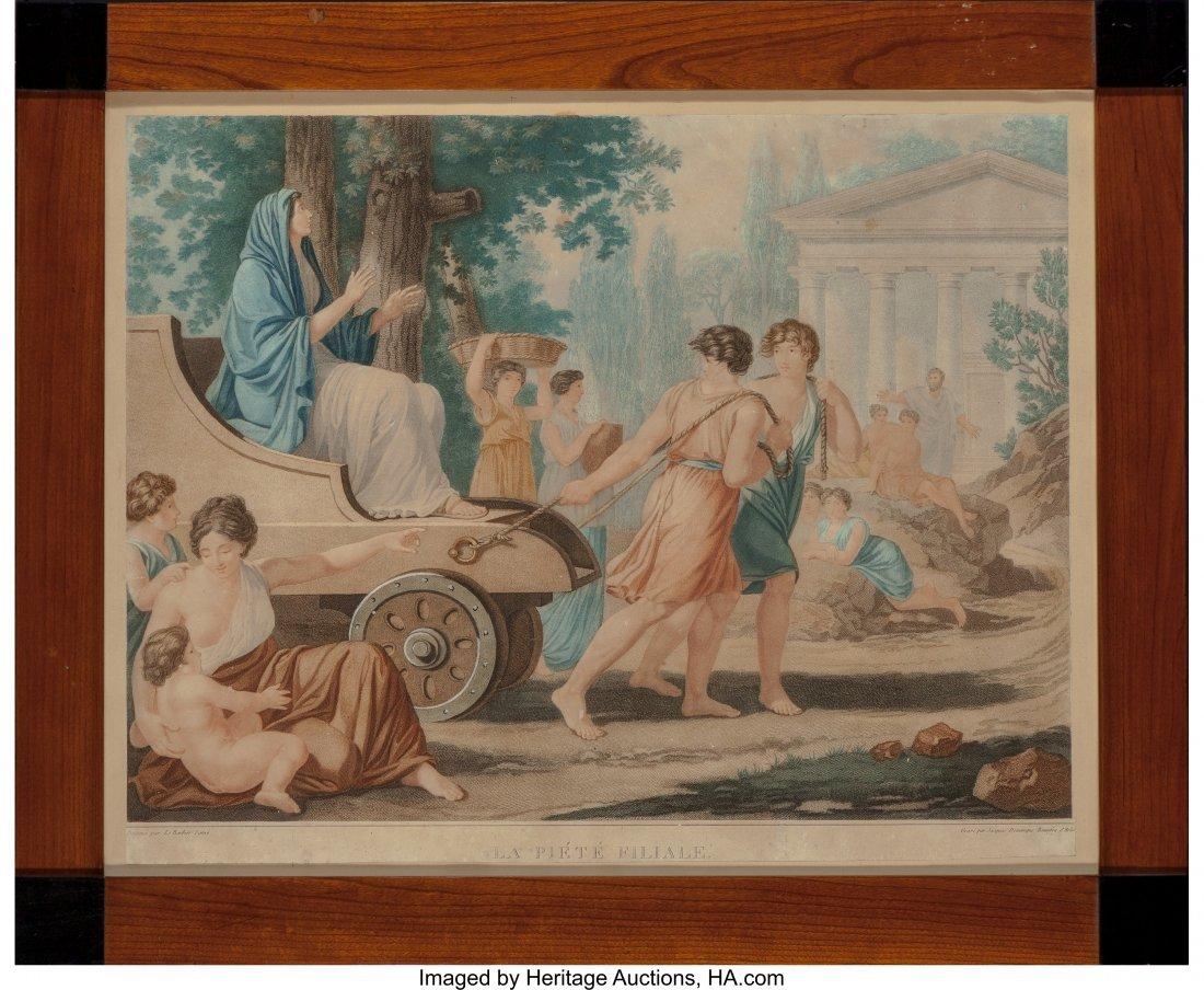 62199: A Framed Jacques Dominique Bonnefoy Gravure Prin - 2