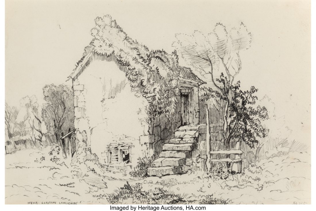 62201: S. Prout (19th Century) Group of Seven Drawings