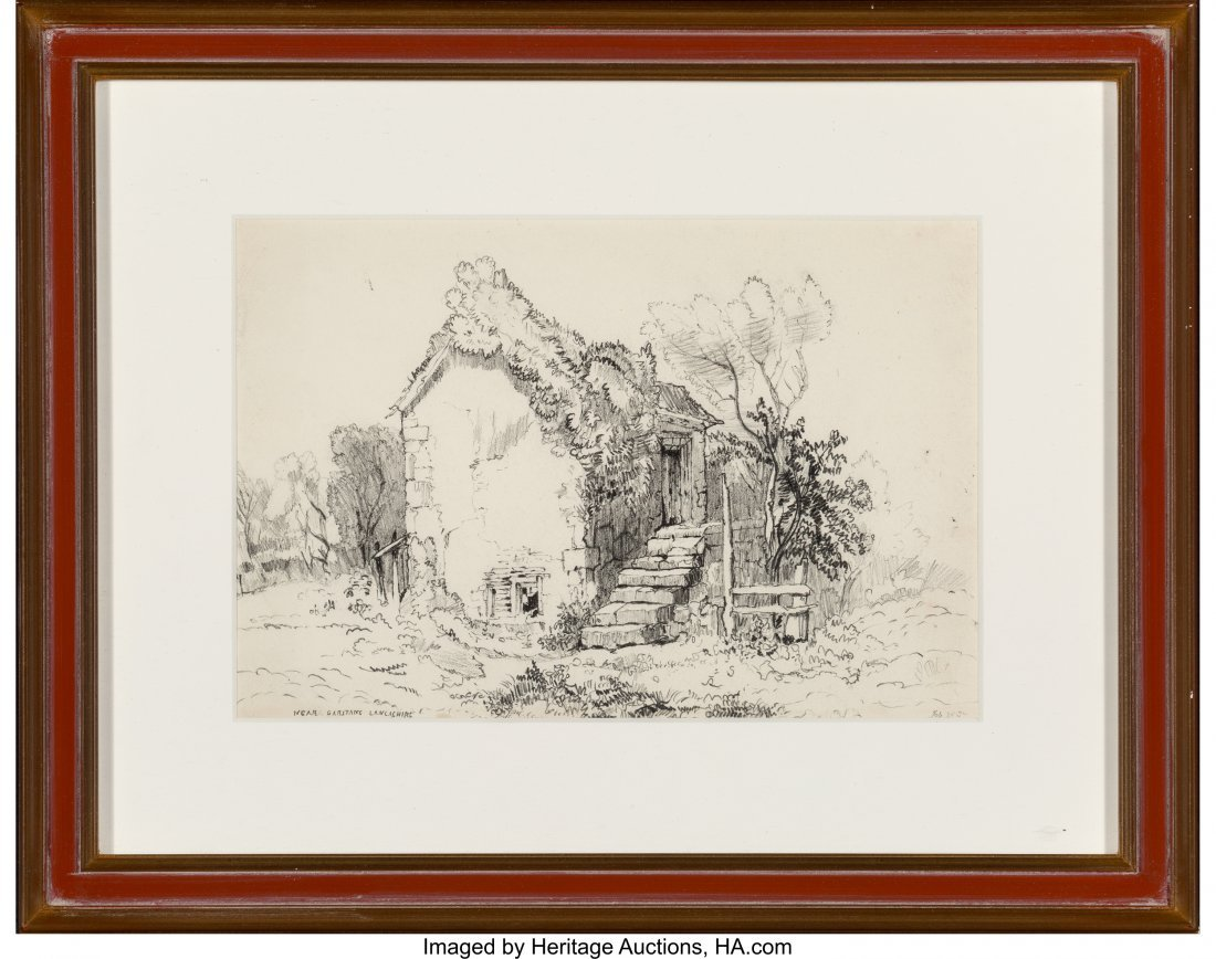 62201: S. Prout (19th Century) Group of Seven Drawings  - 8