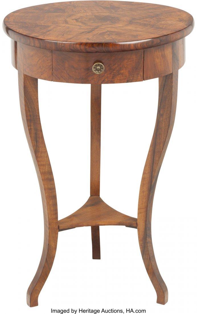 62069: A Biedermeier Mahogany Single-Drawer Side Table
