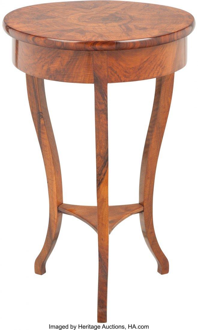 62069: A Biedermeier Mahogany Single-Drawer Side Table  - 2