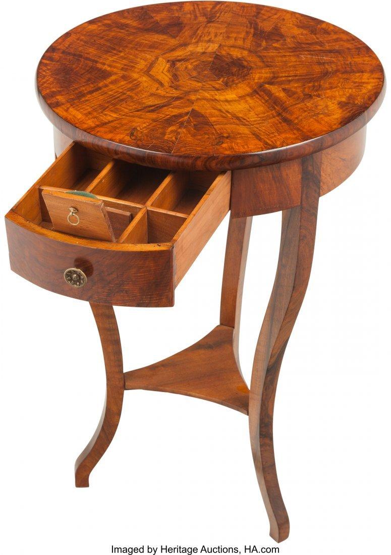 62069: A Biedermeier Mahogany Single-Drawer Side Table  - 3