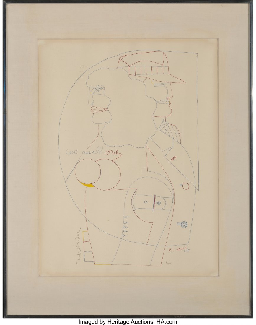 62268: Richard Lindner (American, 1901-1978) We are all - 2