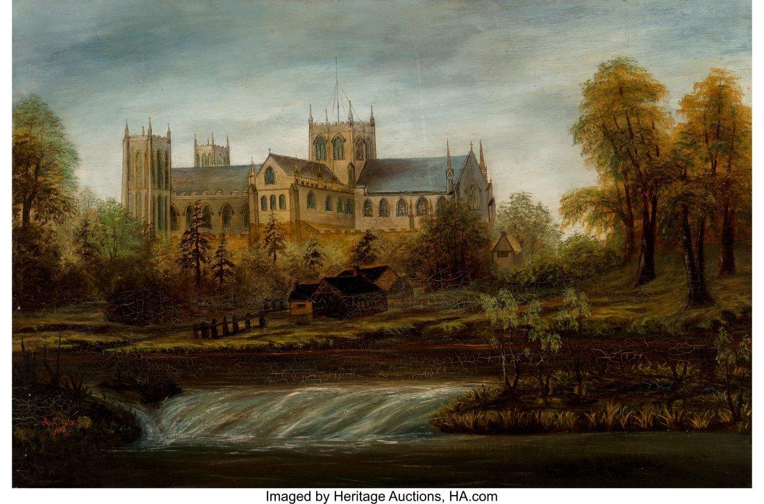 62206: A. E. Ellis (19th Century) The Cathedral, 1880 O