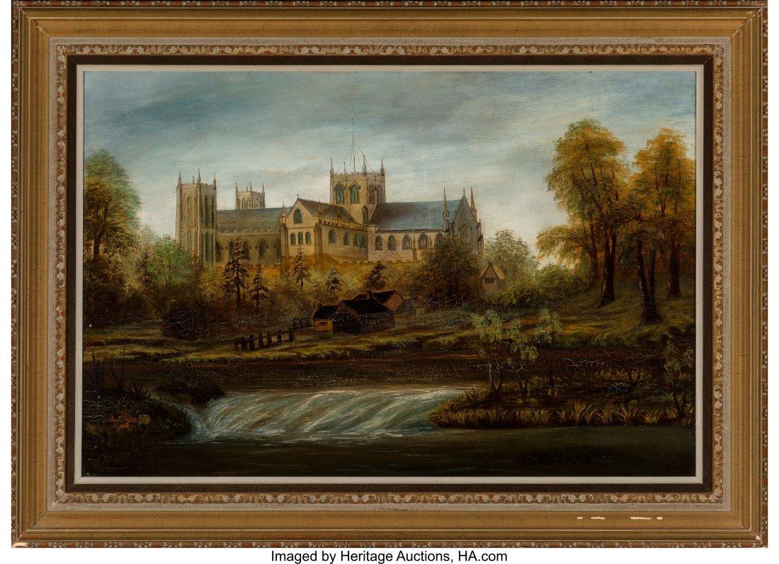 62206: A. E. Ellis (19th Century) The Cathedral, 1880 O - 2