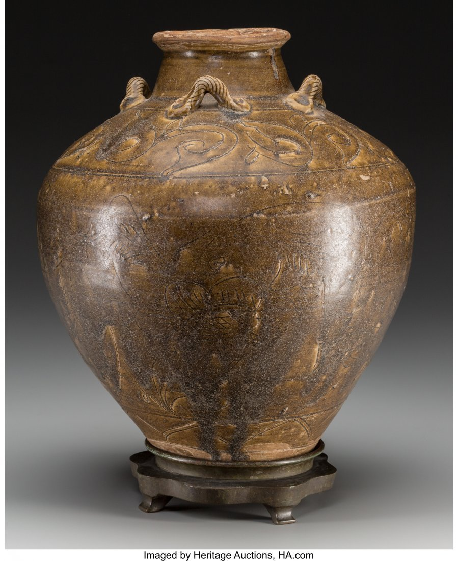 62131: A Vietnamese Brown-Glazed Ceramic Storage Jar, 1
