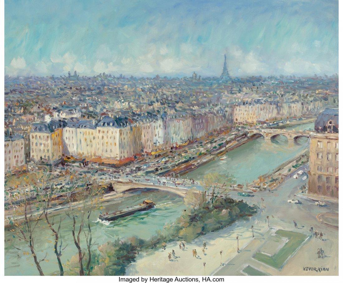 62211: Jean Kevorkian (French, b. 1933) Paris, la Seine