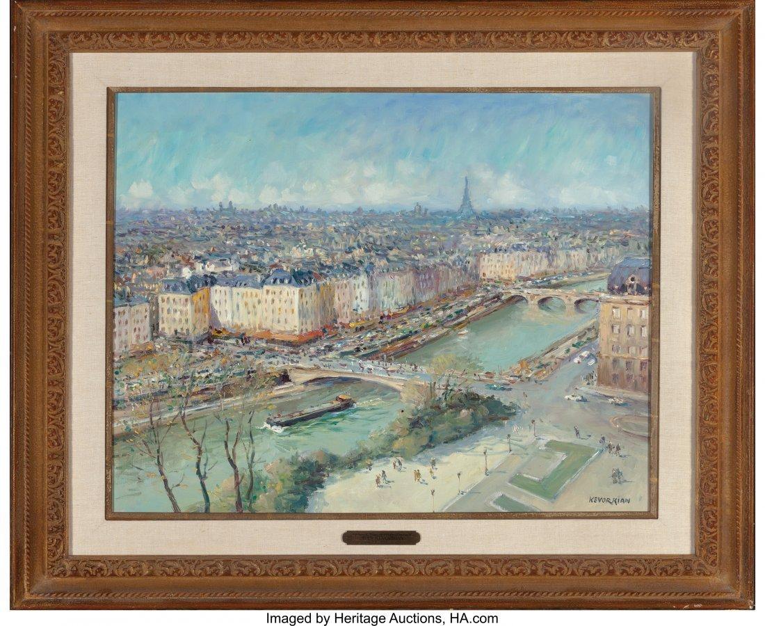 62211: Jean Kevorkian (French, b. 1933) Paris, la Seine - 2