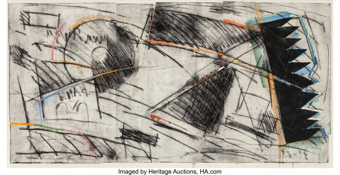 62360: Oleg Kudryashov (b. 1932) Plate No. 1778, 1989 D