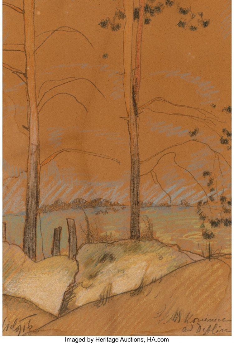 62291: Kazimierz Sichulski (1879-1942) Landscape around