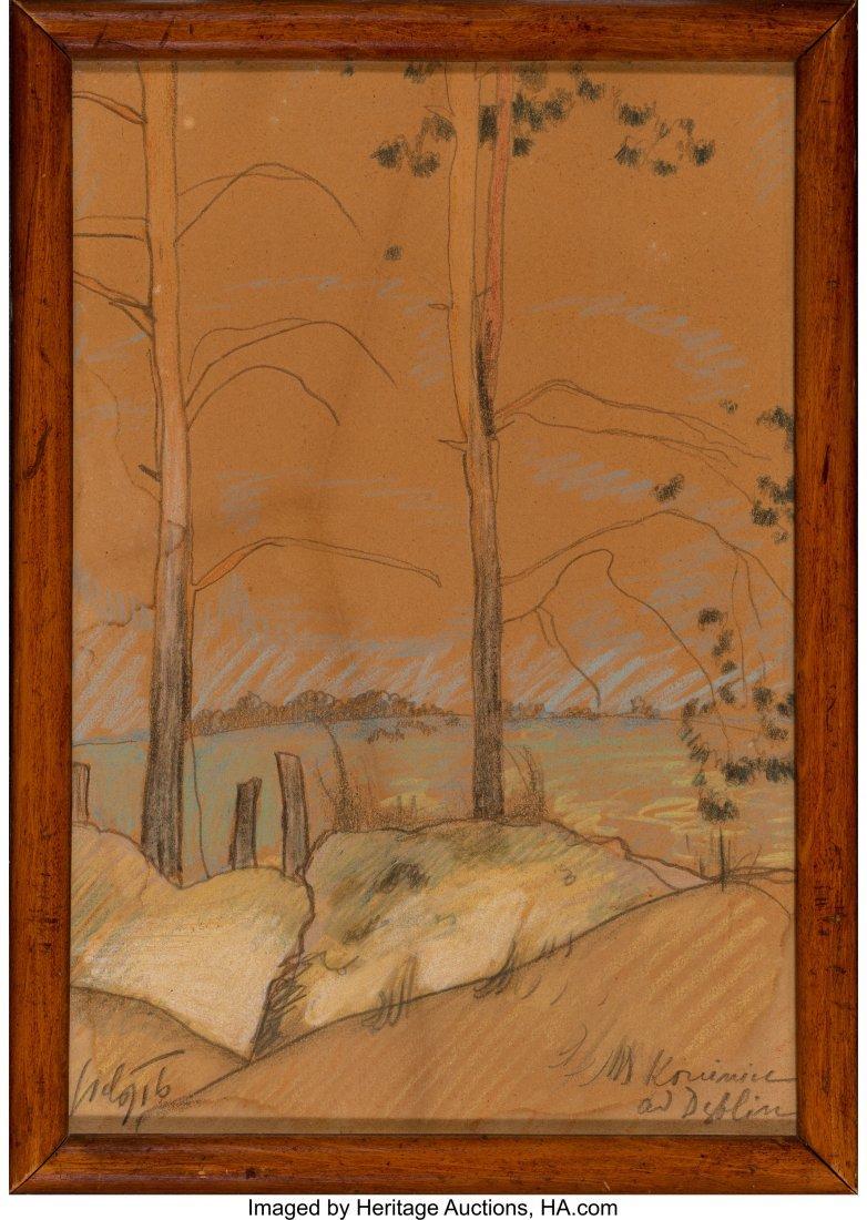 62291: Kazimierz Sichulski (1879-1942) Landscape around - 2