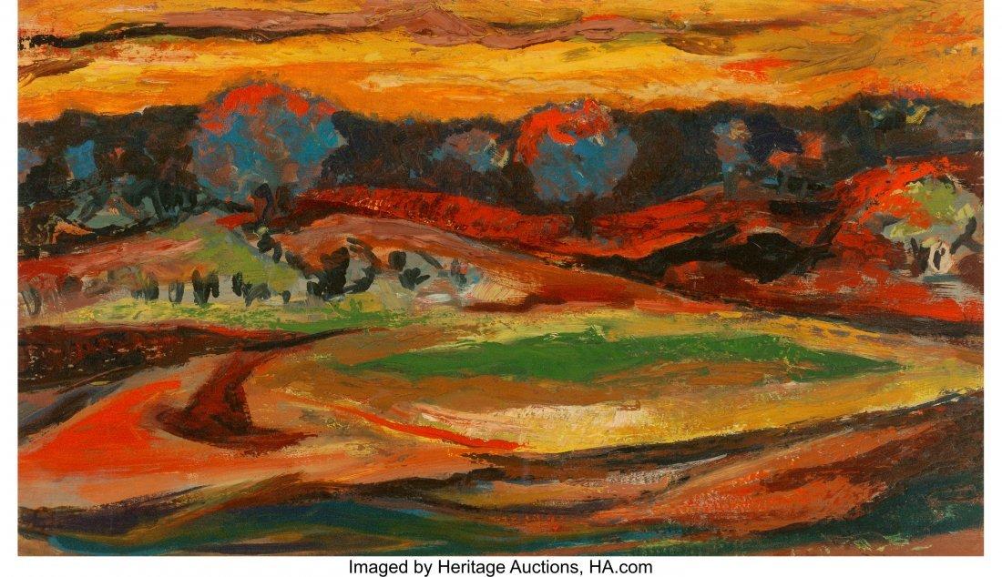 62234: Samella Sanders Lewis (American, b. 1924) Landsc