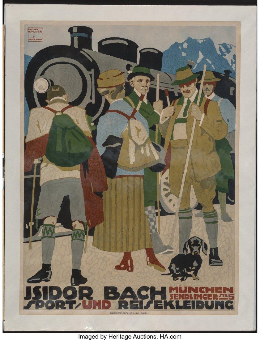 62306: Ludwig Hohlwein (German, 1874-1949) Isidor Bach  - 2