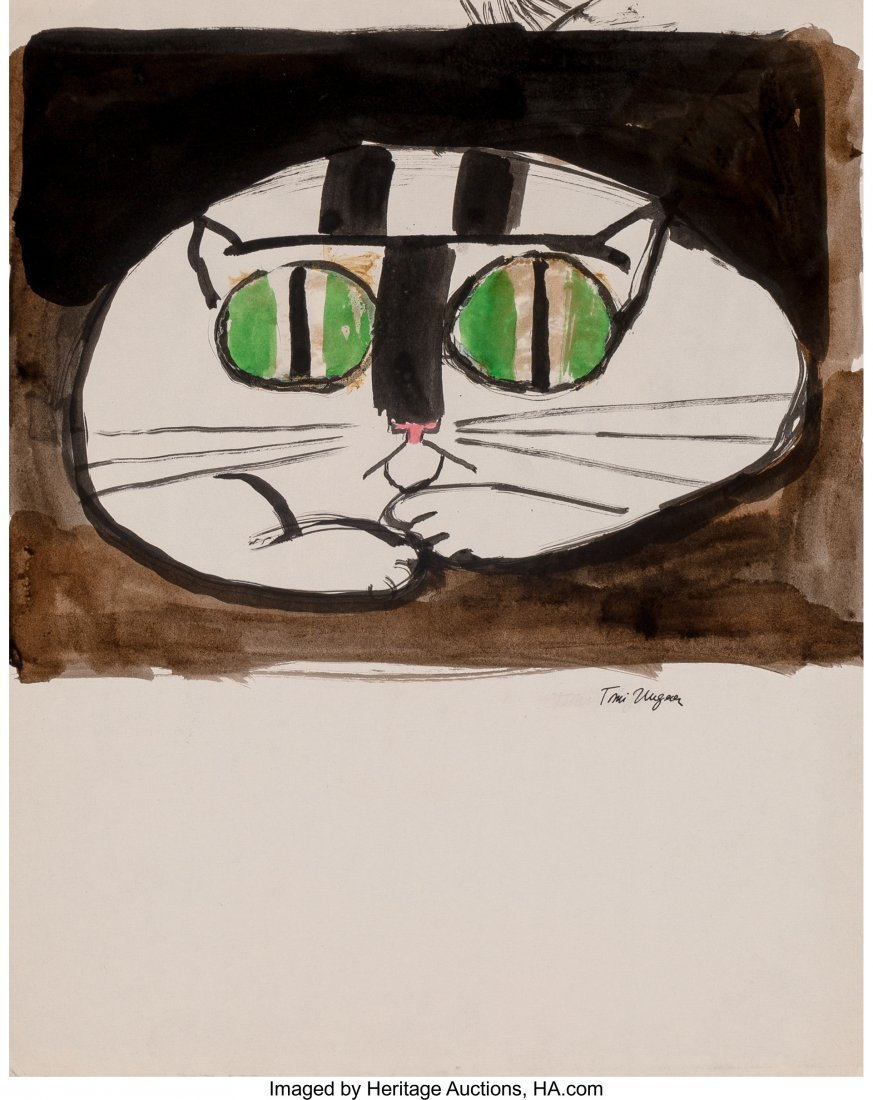 62322: Tomi Ungerer (French, b. 1931) Cats (three works - 2