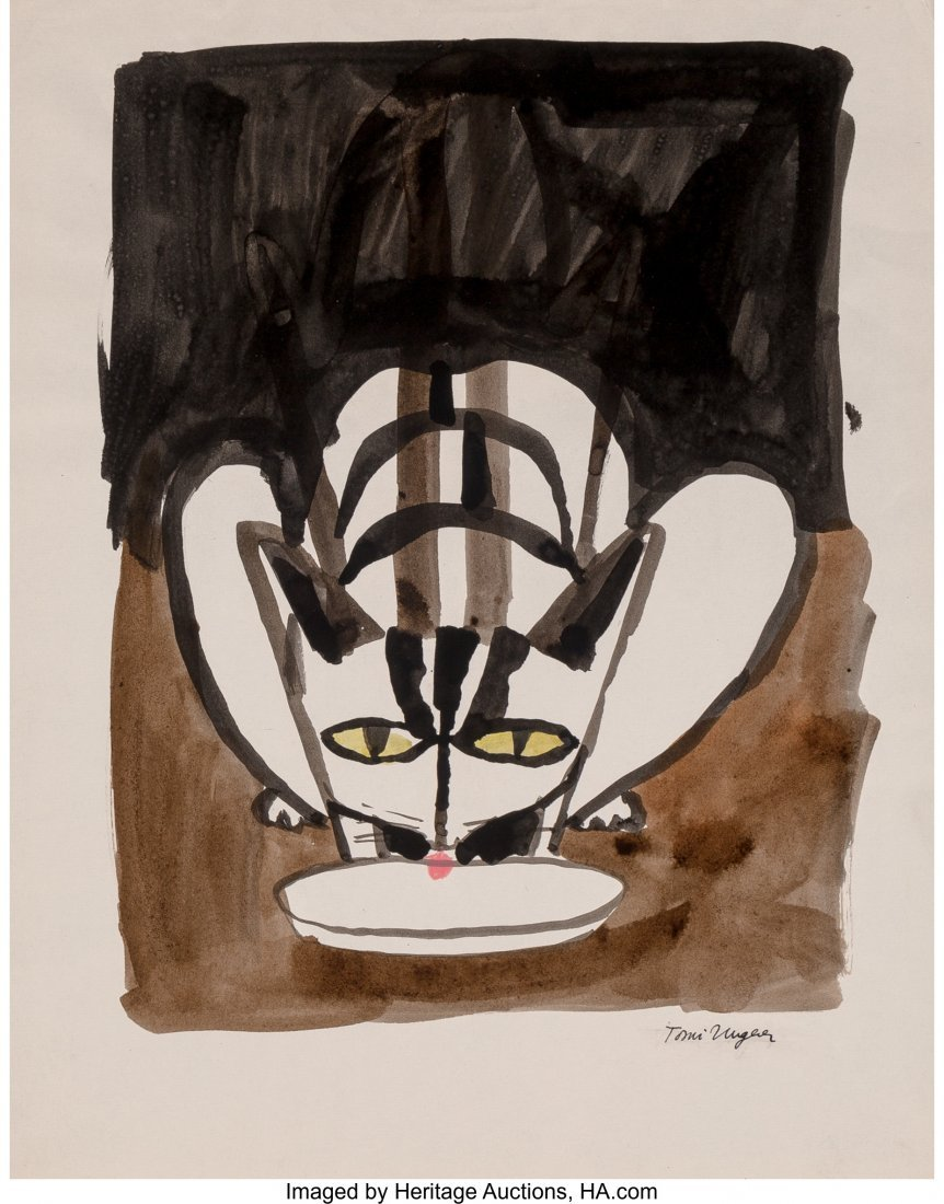 62322: Tomi Ungerer (French, b. 1931) Cats (three works - 3