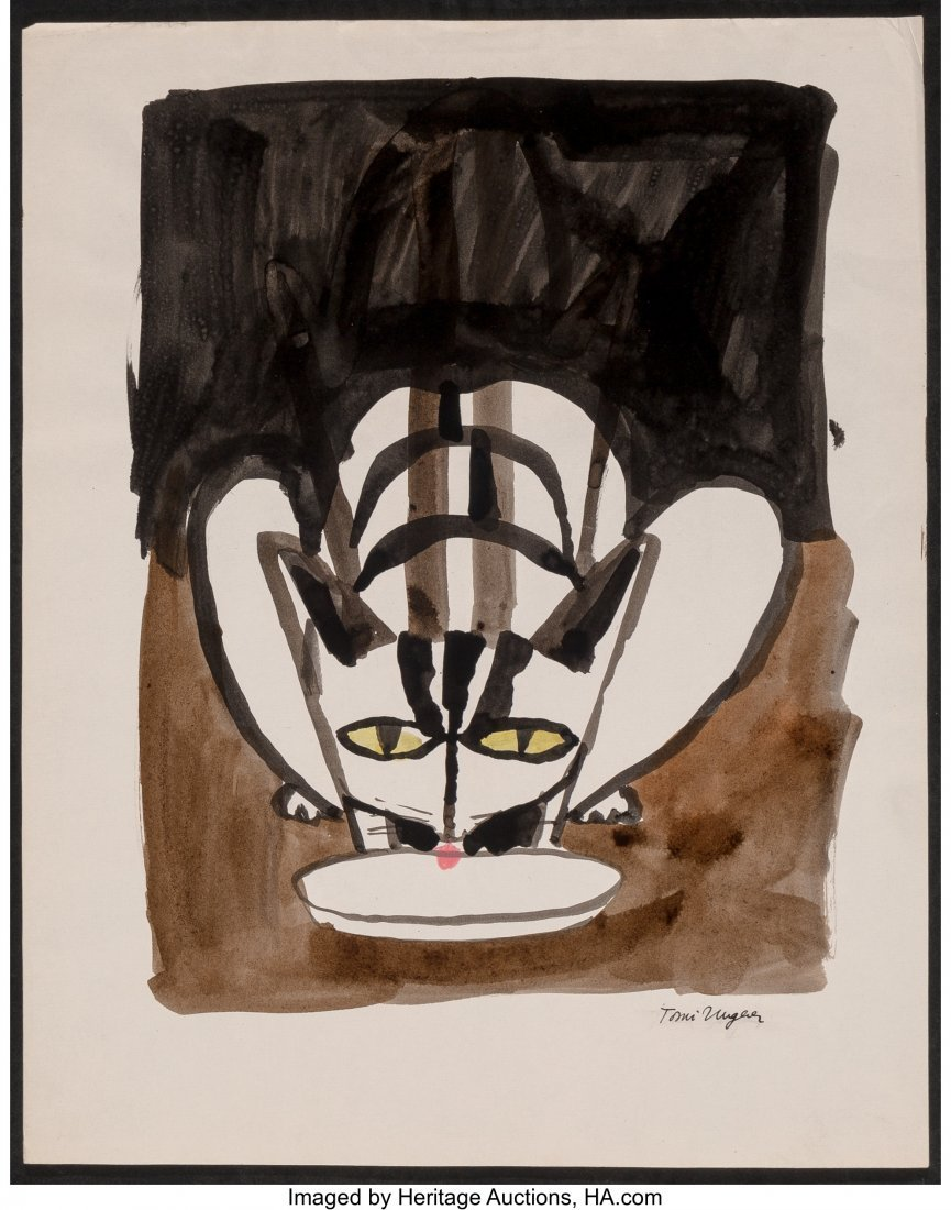 62322: Tomi Ungerer (French, b. 1931) Cats (three works - 7