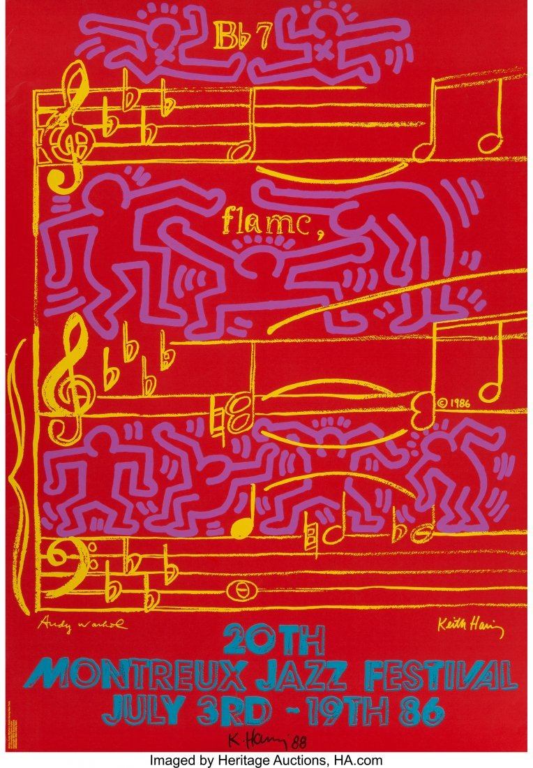 62329: Keith Haring and Andy Warhol 20th Montreux Jazz