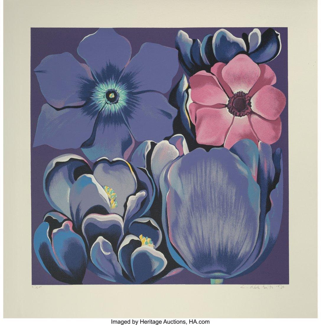 62389: Lowell Nesbitt (American, 1933-1993) Violet Mono