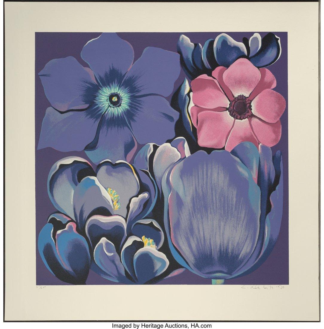 62389: Lowell Nesbitt (American, 1933-1993) Violet Mono - 3