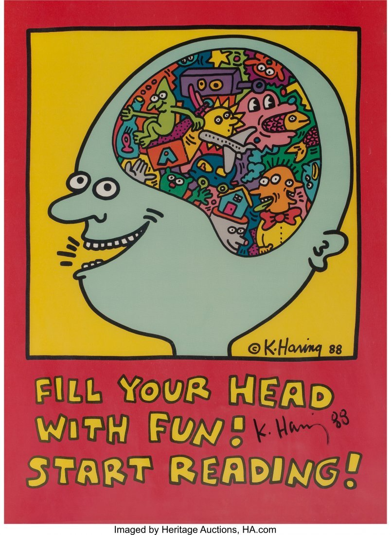 62335: Keith Haring (American, 1958-1990) Fill Your Hea