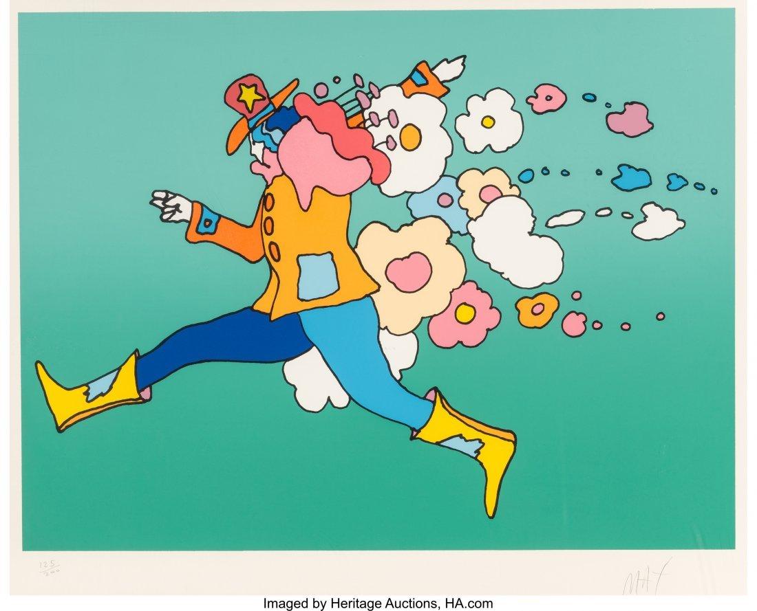 62404: Peter Max (American, b. 1937) Flower Jumper Lith